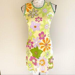 Flower power sleeveless summer dress